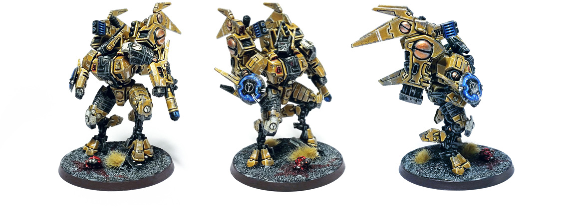 Deathhammer40k Warhammer 40,000 Commission Painted and Built Tau Empire Commander Wargaming Miniatures