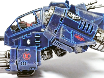 Deathhammer40k Warhammer 40,000 Commission Painted and Built Wargaming Miniatures Crimson Fists Stormtalon Transfers