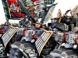 Deathhammer40k Warhammer 40,000 Commission Painted and Built Wargaming Miniatures Ravenwing Command Squad Blog