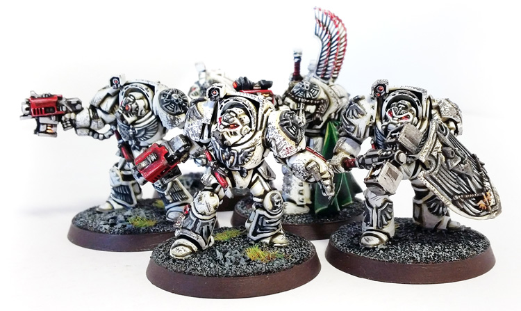 Deathhammer40k Warhammer 40,000 Commission Painted and Built Wargaming Miniatures Deathwing Terminators 1a