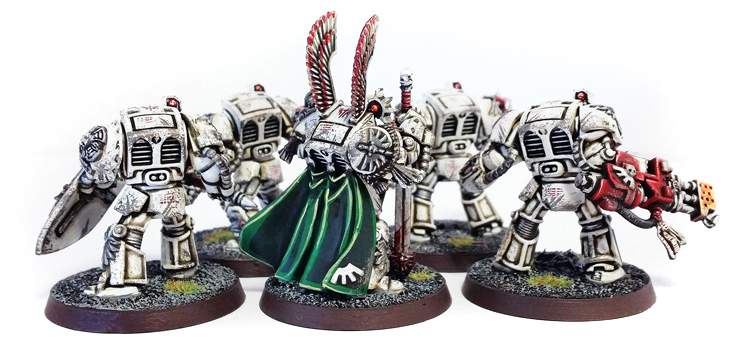 Deathhammer40k Warhammer 40,000 Commission Painted and Built Wargaming Miniatures Deathwing Terminators 2an