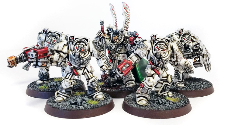 Deathhammer40k Warhammer 40,000 Commission Painted and Built Wargaming Miniatures Deathwing Terminators 3a