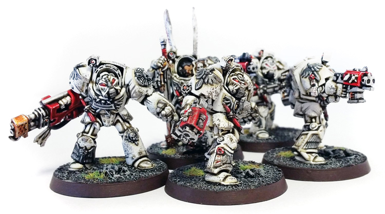 Deathhammer40k Warhammer 40,000 Commission Painted and Built Wargaming Miniatures Deathwing Terminators 4a