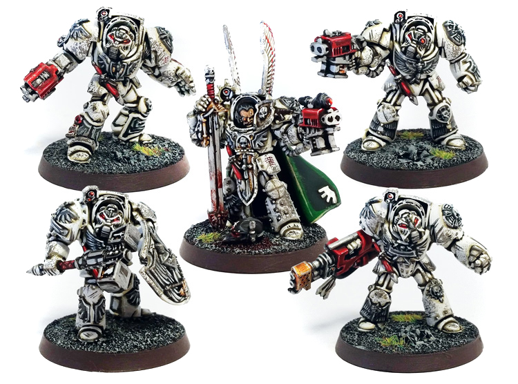 Deathhammer40k Warhammer 40,000 Commission Painted and Built Wargaming Miniatures Deathwing Terminators 5a