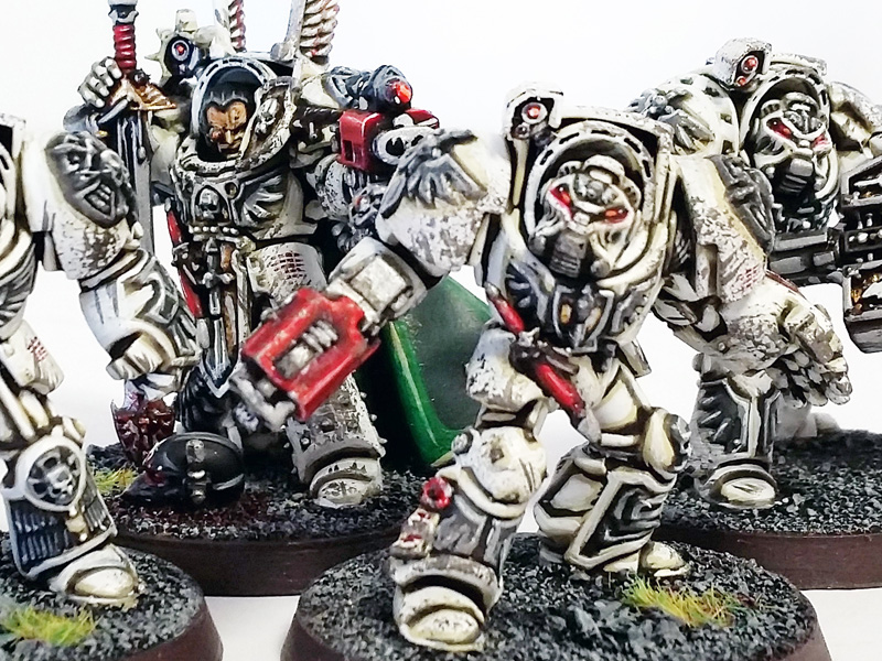 Deathhammer40k Warhammer 40,000 Commission Painted and Built Wargaming Miniatures Deathwing Terminators Blog Post