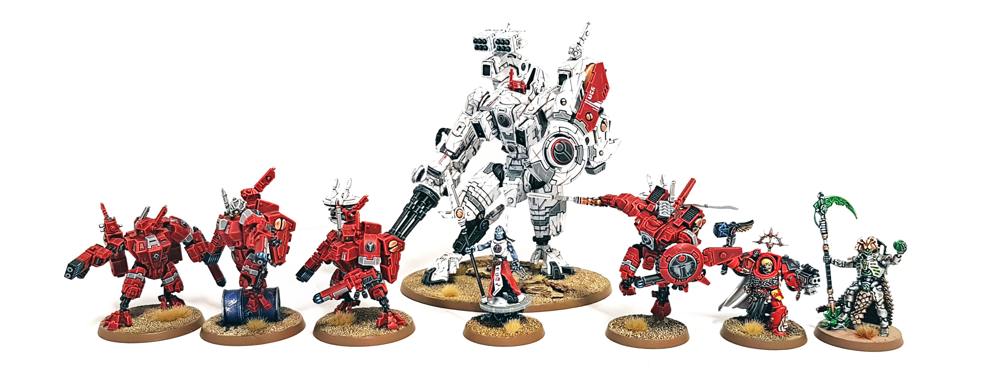Deathhammer40k Warhammer 40,000 Commission and Testimonials Tau Empire Project