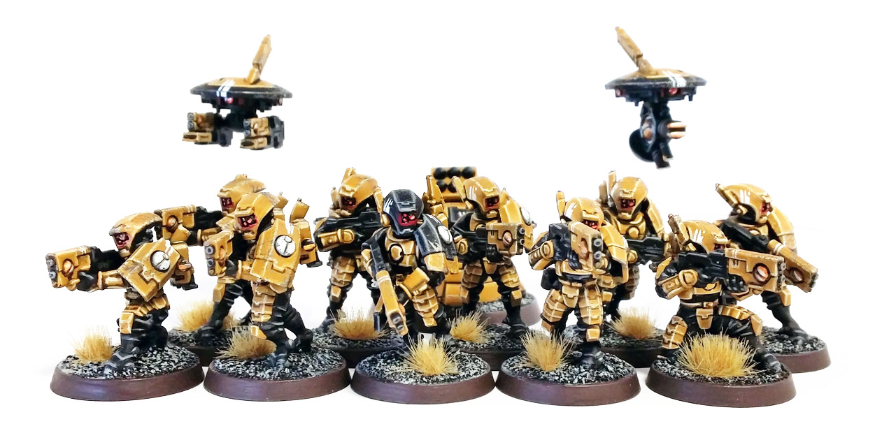 Deathhammer40k Warhammer 40,000 Commission Painting Wargaming Miniatures Tau Empire Breacher Team 2