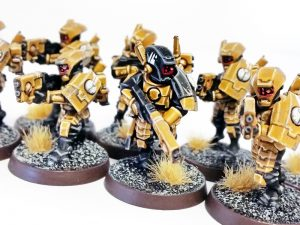 Deathhammer40k Warhammer 40,000 Commission Painting Wargaming Miniatures Tau Empire Breacher Team