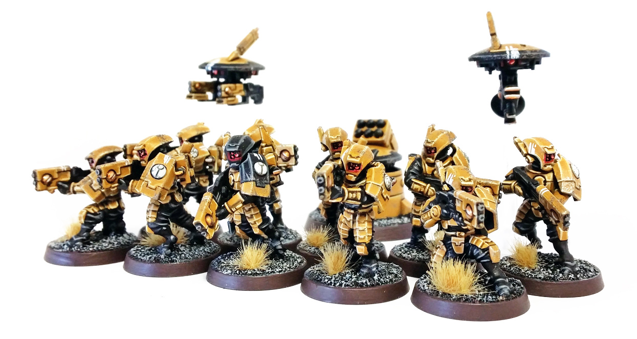 Deathhammer40k Warhammer 40,000 Commission Painting Wargaming Miniatures Tau Empire Breacher Team 4