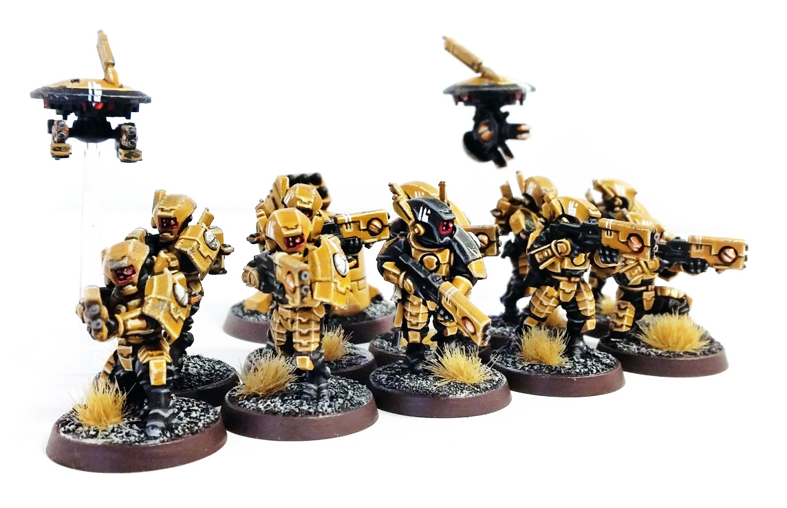 Deathhammer40k Warhammer 40,000 Commission Painting Wargaming Miniatures Tau Empire Breacher Team 6