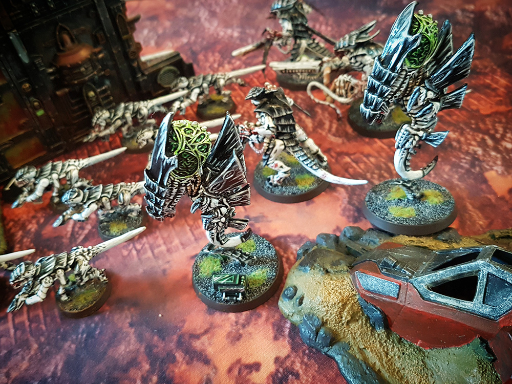 Deathhammer40k Warhammer 40,000 Games Workshop City Ruin Batlle Mat Review Tyranids vs Blood Angels 3
