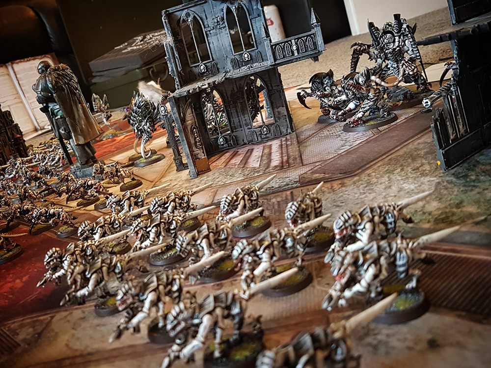Deathhammer40k Warhammer 40,000 Games Workshop City Ruin Batlle Mat Review Tyranids vs Blood Angels 4
