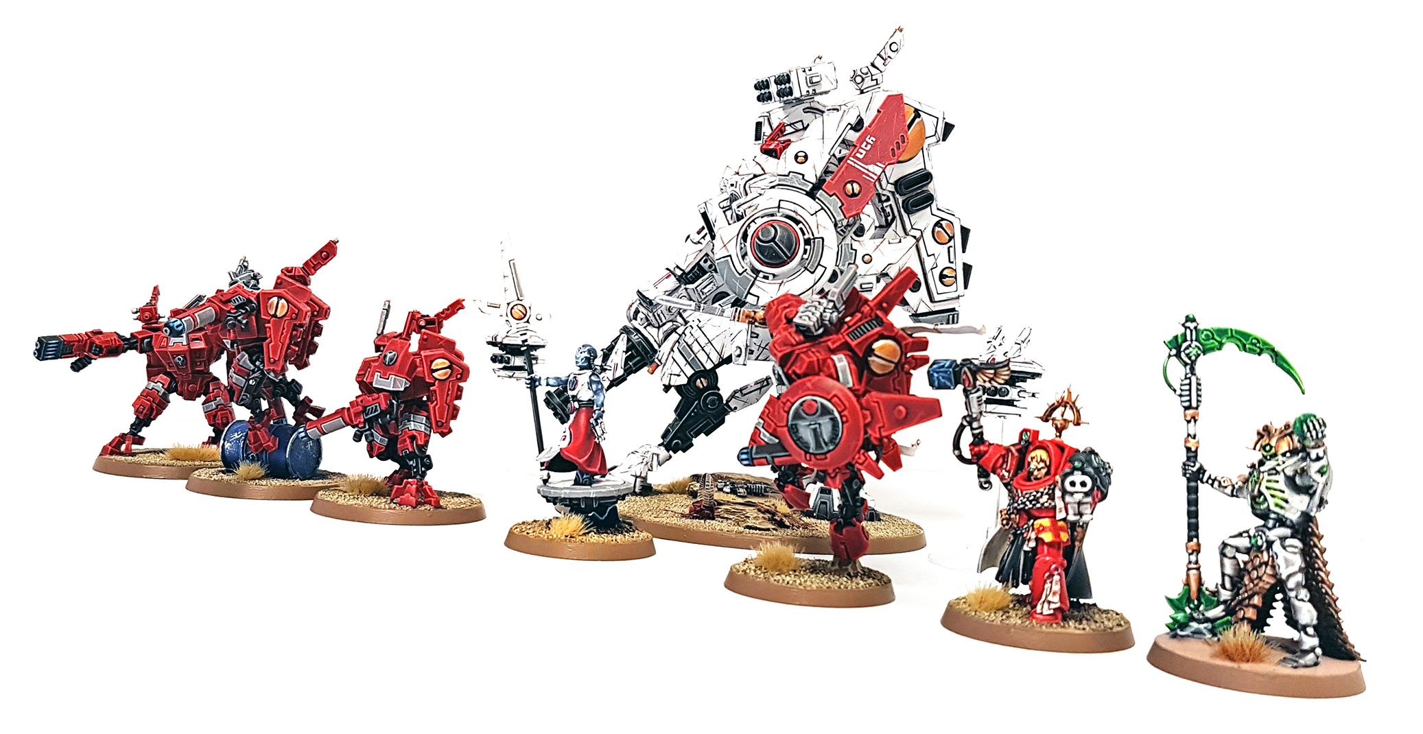 Deathhammer40k Warhammer 40,000 Commission Painted Tau Empire, Blood Angels and Necrons 21