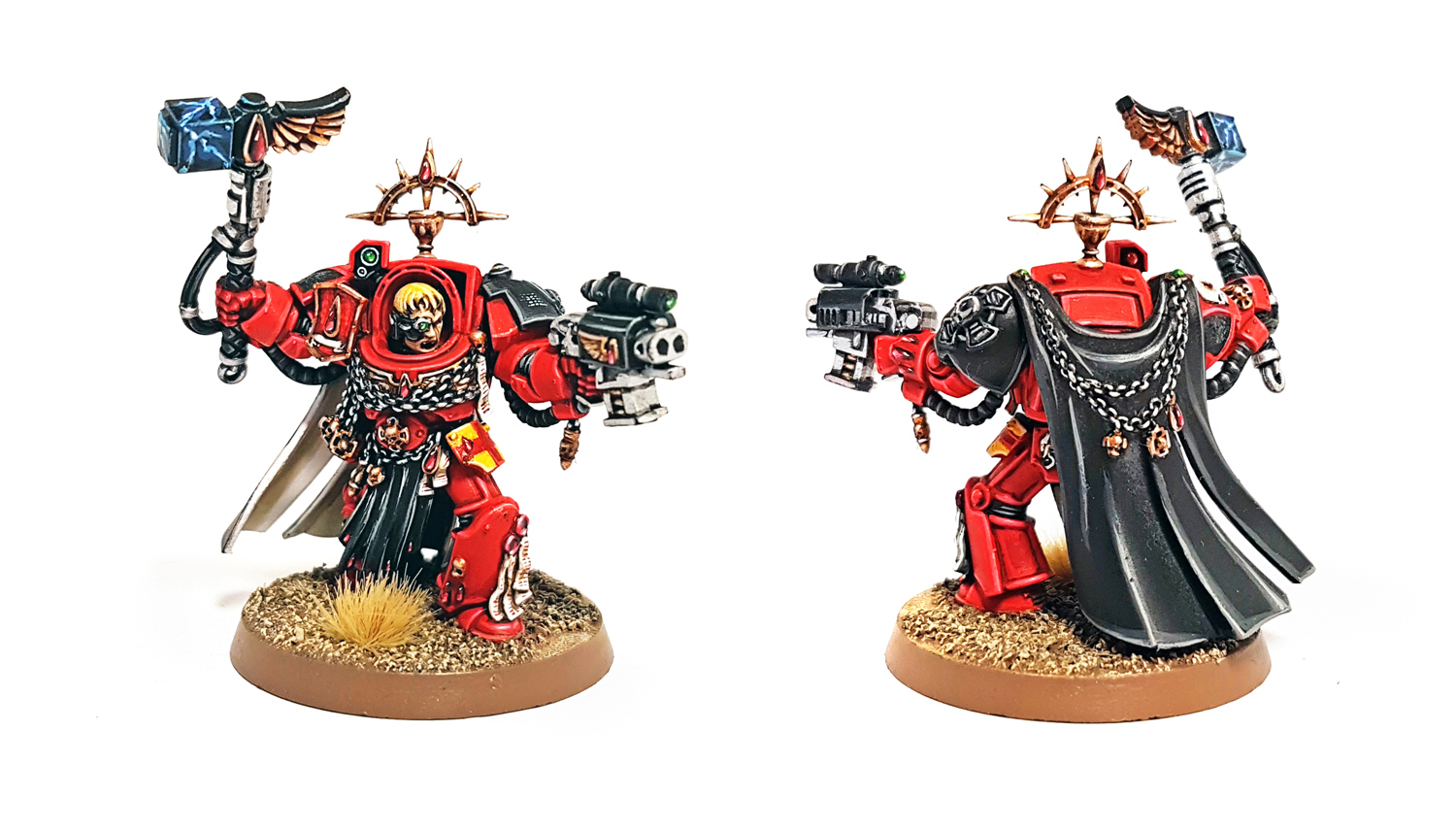 Deathhammer40k Warhammer 40,000 Commission Painted Tau Empire Farsight Enclave Project Blood Angel Terminator Captain