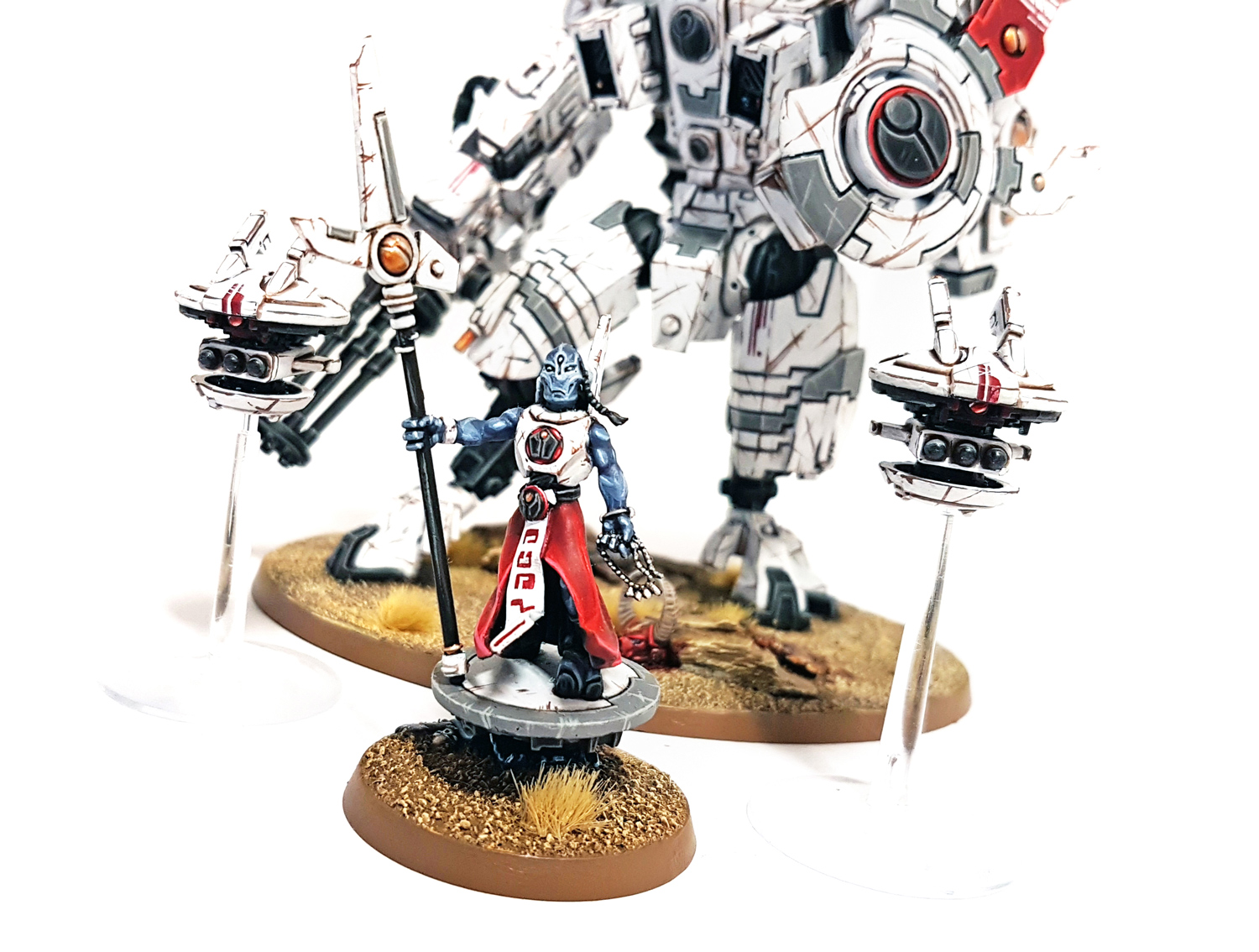 Deathhammer40k Warhammer 40,000 Commission Painted Tau Empire Farsight Enclave Project Ethereal