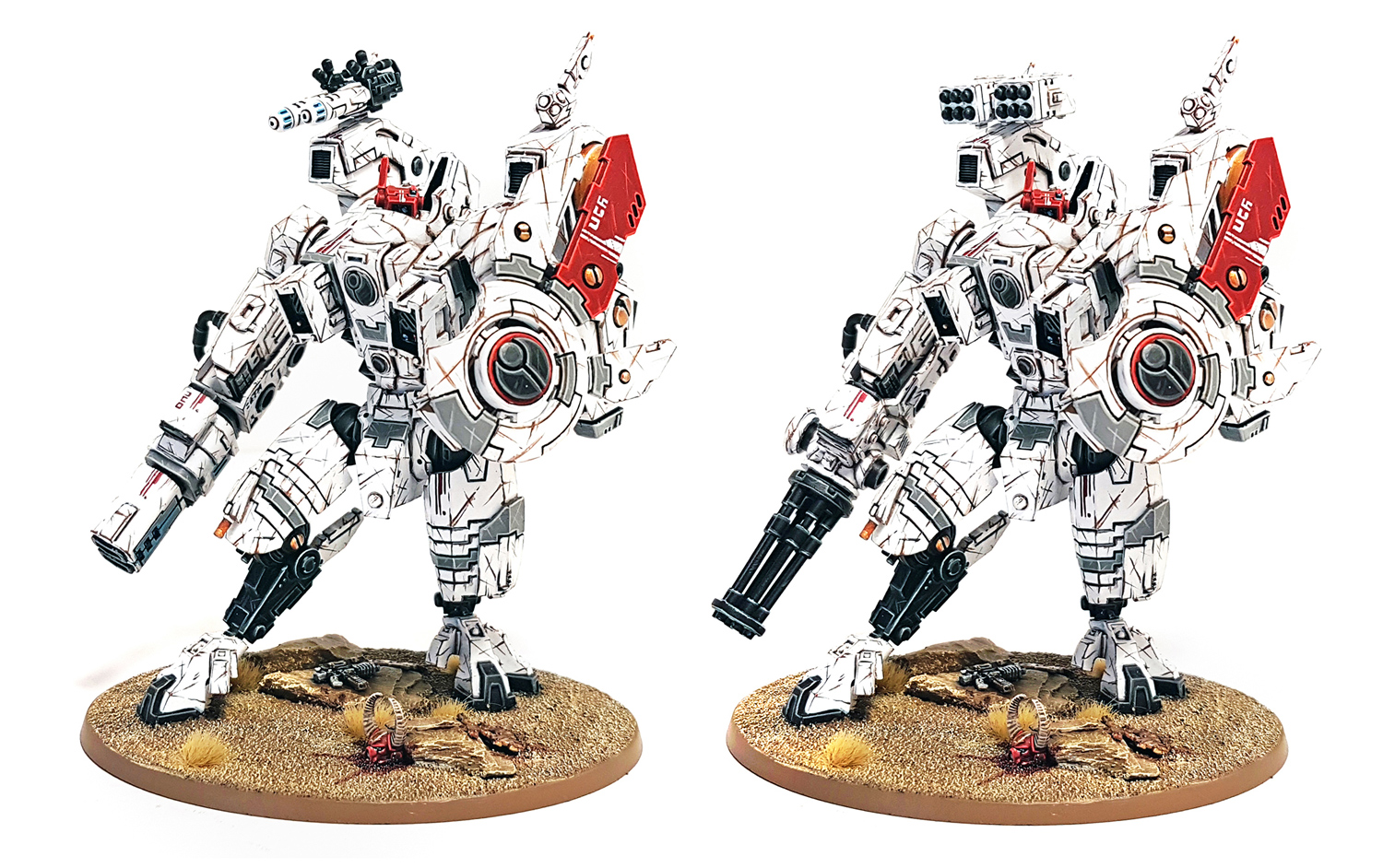 Deathhammer40k Warhammer 40,000 Farsight Enclave and Tau Project Riptide Weapon Options Blog Post