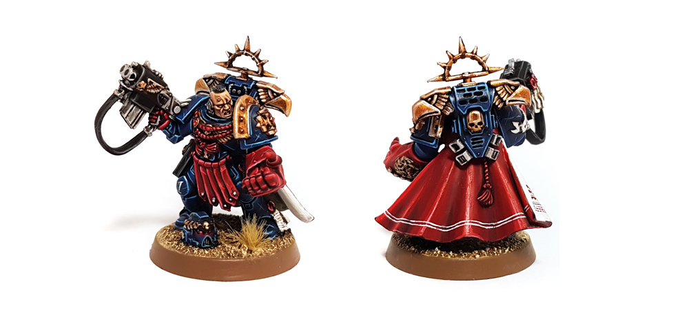 Deathhammer40k Warhammer 40,000 Commission Painted and Built Wargaming Miniatures Crimson Fists Captain
