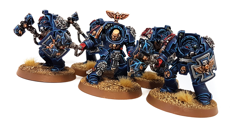 Deathhammer40k Warhammer 40,000 Commission Painted and Built Wargaming Miniatures Crimson Fists Terminators 2