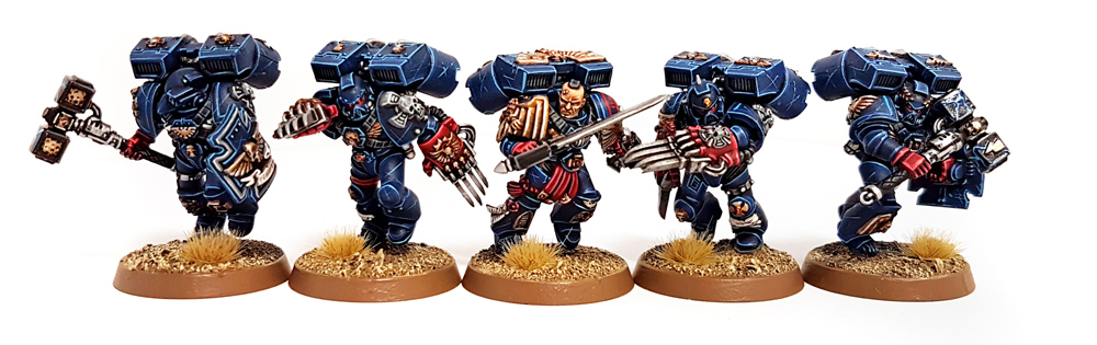 Deathhammer40k Warhammer 40,000 Commission Painted and Built Wargaming Miniatures Crimson Fists Vangaurd Veterans