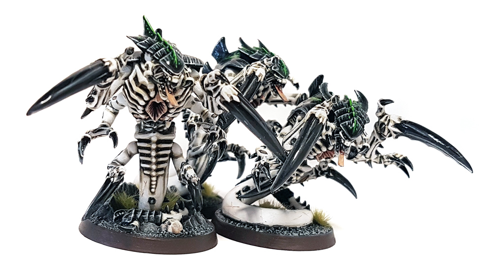 Deathhammer40k Warhammer 40,000 Commission Painted and Built Wargaming Miniatures Tyranid Raveners