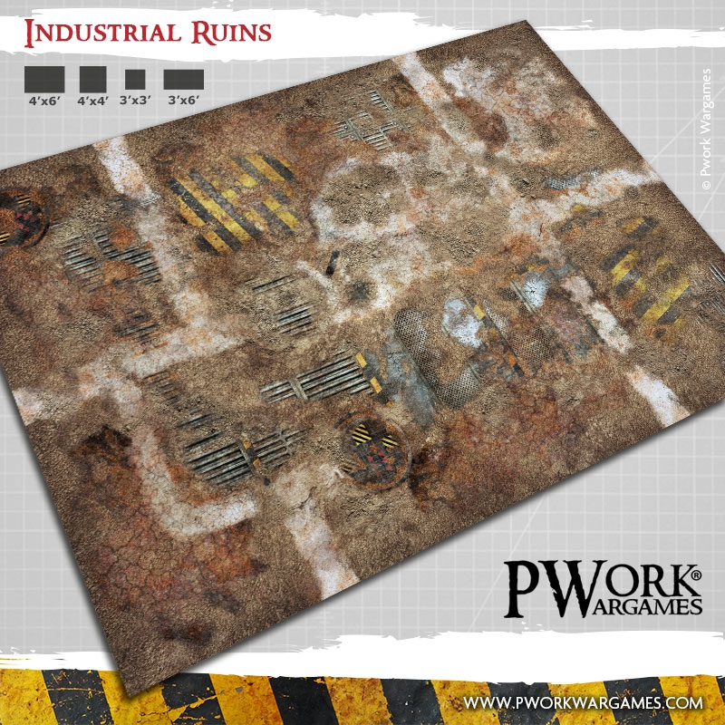Deathhammer40k Warhammer 40,000 Commission Painted and Built Wargaming Miniatures PWork Wargames Industrial Ruins Battle Mat
